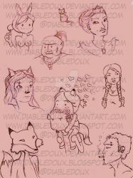 Sketches by diabledoux