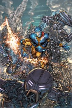 X-O MANOWAR variant cover #35 by PETECOLORS