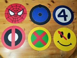 Superhero Hangers 1 of 4 by Thastygliax