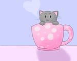 Cup Of Kitty by Virachanchi