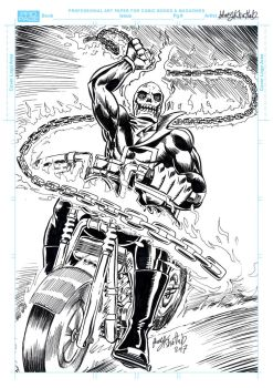 Ghost Rider pinup by hany-khattab