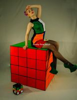 Rubik's cube (the bigcube is real/no manipulation) by TheBizarreBirdcage