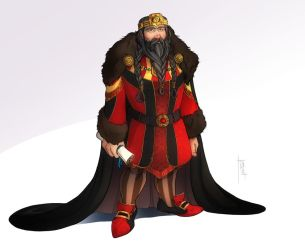 Commission: Dwarf King by SicilianValkyrie