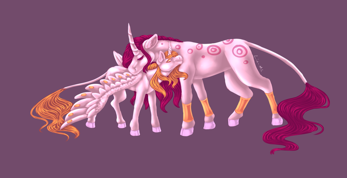 Mother and daughter by McEdgelord