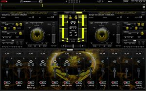 Skin Alien Yellow For Virtual DJ 7 by THERECORDBLACK01