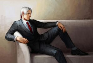 red tie by eleth-art