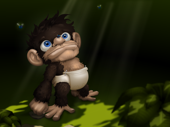 Little Stinky Chimp by Klowner