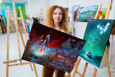 Me and my paintings 1 by Anestazy