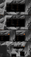 Pure Black Glass Orange Theme Win10 Fall Creators by Cleodesktop