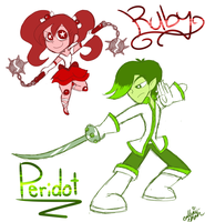 Steven Universe: Ruby and Peridot by PrincessCallyie