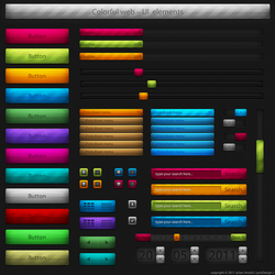 Colorful web UI elements by cyrixDesign