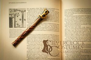 Personalized leather bookmark by SilverclockCostumes