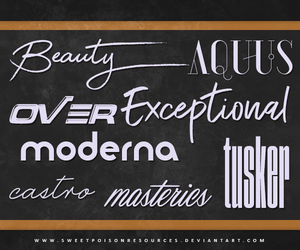 Font Pack 004 by sweetpoisonresources