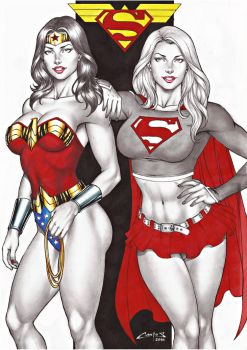 WONDER W. and SUPERGIRL SALE ON E-BAY NOW !!! by carlosbragaART80