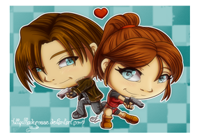 Trade - Leon and Claire by LadyRosse