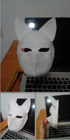 Kitsune mask (in process) by albimola