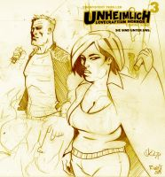 UNHEIMLICH 3 scribble by Millus