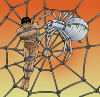 Tarzan vs. Spider-Bot 3 by JungleCaptor