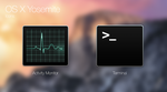 OS X Yosemite icons:Activity Monitor, Terminal by thy4205