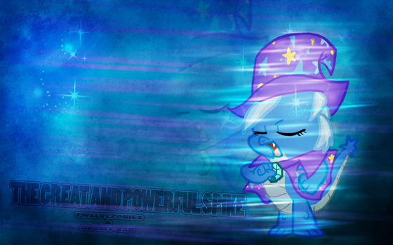 The Great and Powerful Spike Wallpaper by TwelvePonies