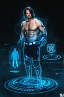 Aj styles - 2 time wwe champion by Sjstyles316