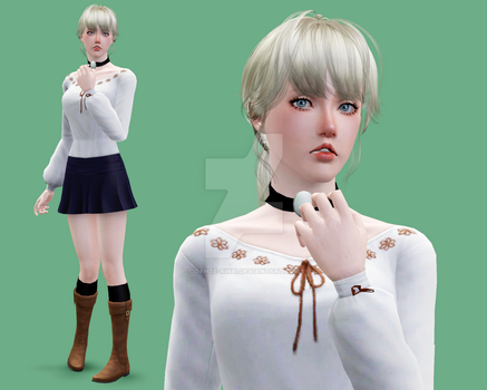 The Sims 3 - Fiona Belli by Dante-Rinri