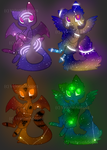 [OPEN] Glowy Galaxy Cats 60 points by VelenieAdopts