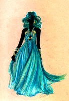 Concept: Princess Neptune Gown by Moonlight-Seraph
