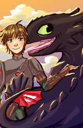 A Boy and His Dragon by Nikufei