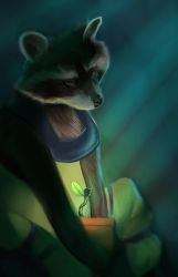 Rocket and Groot sprout by Followthepaws