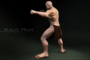 Kalo Hun Fighting Stance II by EtherealProject