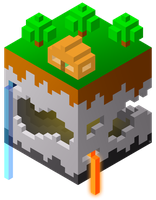 chunk of minecraft by IshmanAllenLitchmore