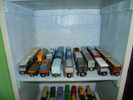 My Train Shelves Picture 2 by Eli-J-Brony