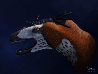 Dakotaraptor Portrait by BrennanStokkermans