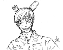 FNAF3 - Springtrap  humanized by MasterOhYeah