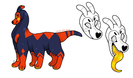 ant dog harlequin adoptable // closed by lonely-dog-adopts
