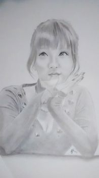 Joo Min Hee Black and white by Joker64
