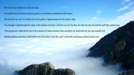 Psalm 23 by DPCloud01