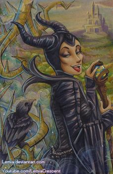 Copic Maleficent by LemiaCrescent