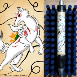 Okami Pen by MischievousPooka