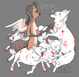 Darling Bloody Foxes by prysmyr