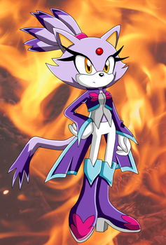 A new style for Blaze by MicaiahtheEchidna