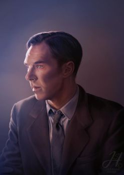 Alan Turing by Arkarti