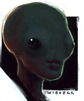 Alien portrait sketch 03 by thomaswievegg