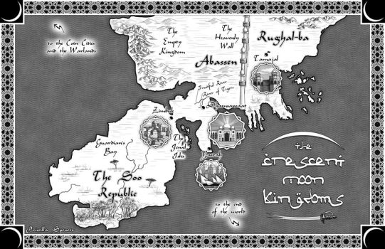 Crescent Moon Kingdoms Map by priscellie