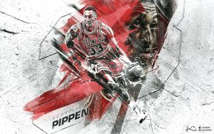 Scottie Pippen Wallpaper by skythlee