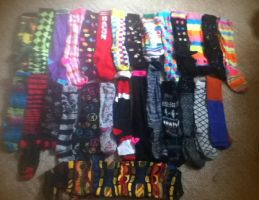 Updated Sock Collection by Im-A-Horror-Freak