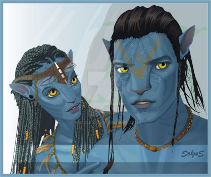 Avatar - Neytiri, Jake Sully by solgas