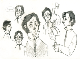 Henry Jekyll sketches by SlackWater