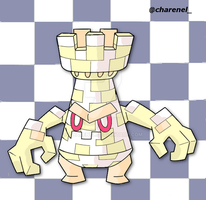 Checkwer white (fakemon) by Charenel